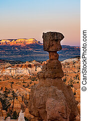 Hoodoos in early morning light in Bryce Canyon National Park...