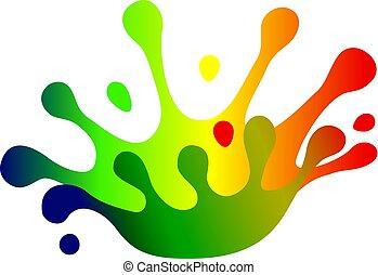 Color splash crown - Liquid Color splash crown. Vector...
