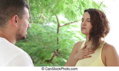 Belly Breathing method - Shot of Belly Breathing method