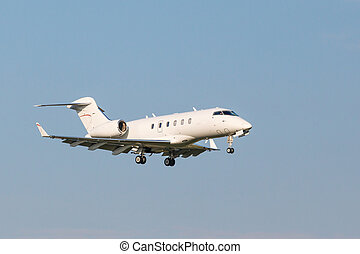 white business aviation aircraft - A small white business...