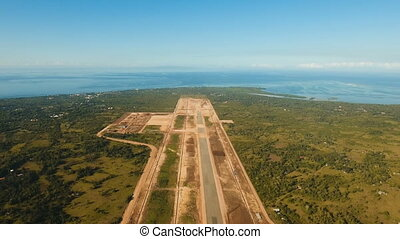 Construction of a new airport terminal.Philippines, Bohol, Panglao.