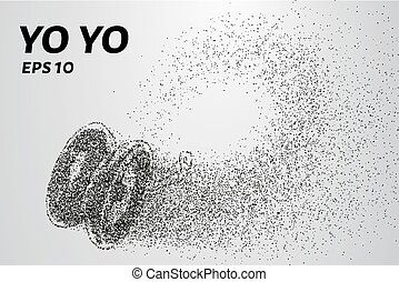 Yo yo of the particles. Yo yo consists of small circles and...