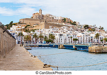 Ibiza Dalt Vila downtown, Ibiza, Spain.