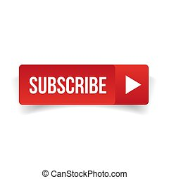 Subscribe button red vector isolated