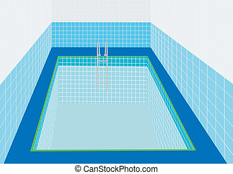 Swimming Pool - Swimming pool with a ladder to descend into...