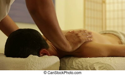 Massage by body therapy specialist - Shot of Massage by body...