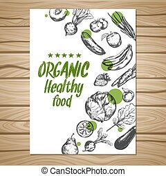 Hand Drawn Healthy Food Poster