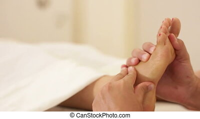 Women foot massages - Shot of Women foot massages