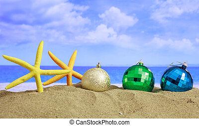 Christmas on a sandy beach