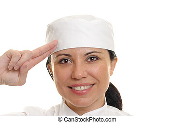Smiling chef salute