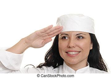 Chef Saluting