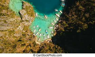 Beautyful lagoon in Kayangan Lake, Philippines, Coron,...