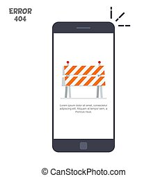 Mobile phone with a picture of a construction cone or fence....