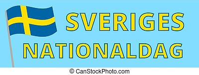 National day of Sweden - Web banner for Swedish National Day...