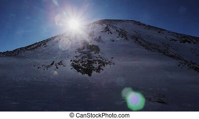 Panoramic view of Elbrus mountain of east peak - Mount...