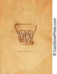 Espresso cup craft - Espresso cup lettering espresso in...
