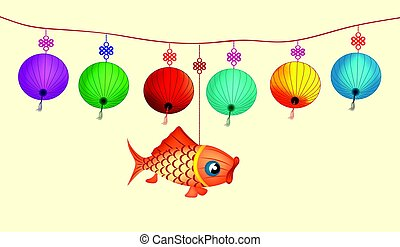 Illustration about traditional festival lanterns