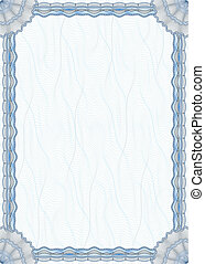 Blank guilloche border for diploma or certificate - Blank...