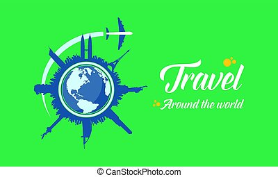 Travel to the world background