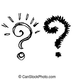 illustration of question marks