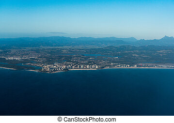 Aerial view of Coolangatta, Gold Coast, Australia - Aerial...