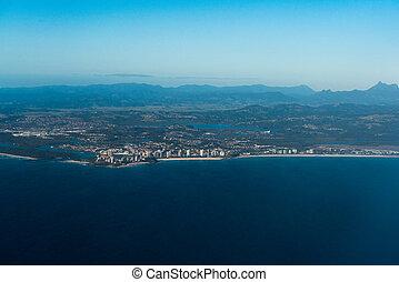 Aerial view of Coolangatta, Gold Coast, Australia - Aerial...