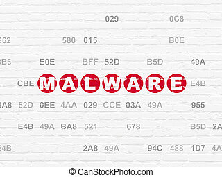 Security concept: Malware on wall background - Security...