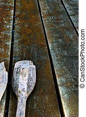 Wooden oar - An old wooden oar