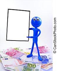 Ben D.Man & advert board & money