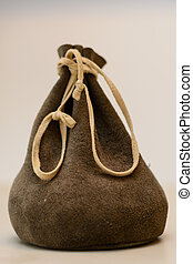 Old purse - cropped images - Old purse made of leather free...
