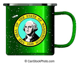 Washington Tin Cup