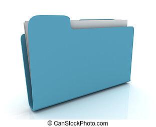 Folder icon 3d on white . rendered illustraion