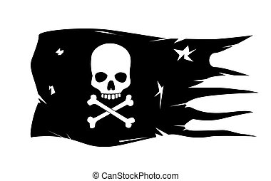 vector skull with crossed bones
