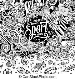 Cartoon cute doodles Sport frame