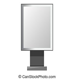 Advertising rectangular shape board with blank paper...