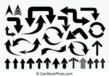 vector set of arrows and pointers - isolated vector set of...