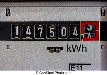 electric meter - ein electricity meter measures the current...