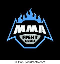 Mixed martial arts logo. - MMA fight club. Mixed martial...