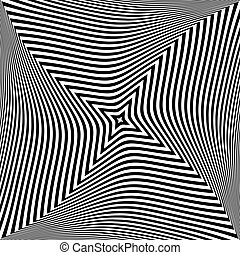Abstract op art design. Textured background. Vector art.