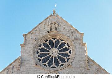 Rose window. Ruvo di Puglia. Apulia.