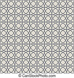 Seamless intersecting circles pattern