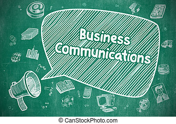 Business Communications - Business Concept. - Shouting...