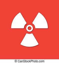 Radiation icon with shadow in a flat design. Vector...