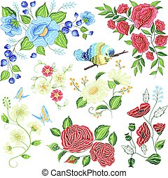 Floral Embroidery Colorful Pattern Pattern - Classic floral...