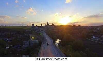 Aerial view of Kamenec-Podolsky castle. Ukraine. - Aerial...