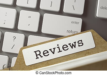 Sort Index Card Reviews. 3D. - Reviews. Folder Index...