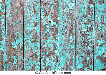 Vintage wood background with peeling paint - Cracking and...