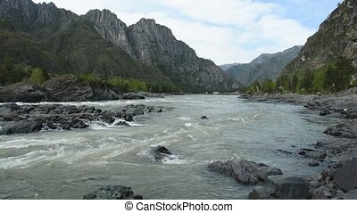 Altai River Katun Yelandin rapids - Yelandin rapids on the...