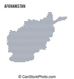 Vector hexagon map of Afghanistan on a white background