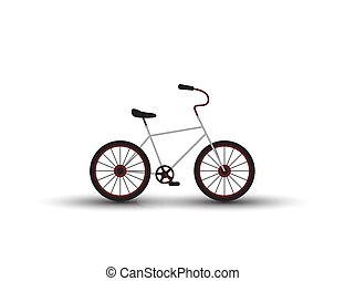 Bicycle Isolated on the White Background.